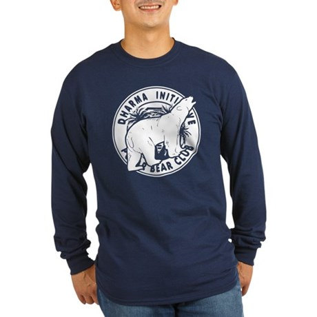 Polar Bear Club LOST Blue Long Sleeve Dark T-Shirt