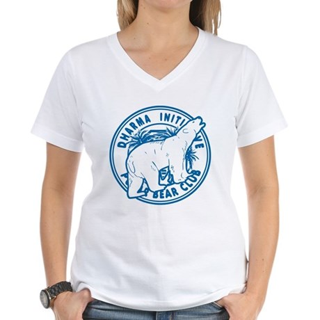 Polar Bear Club LOST Womens V-Neck T-Shirt