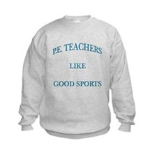 P.E. Teachers Sports Blue Letters Sweatshirt