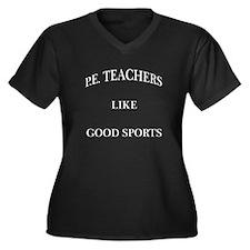 P.E. Teachers Sports White Letters Women's Plus Si
