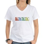 Genius Women's V-Neck T-Shirt