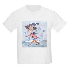 Skating Girl Kids T-Shirt