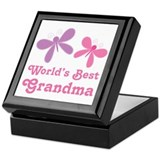 Dragonfly Best Grandma Keepsake Box