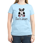 Panda January Due Date Women's Light T-Shirt