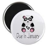 "Panda January Due Date 2.25"" Magnet (10 pack)"