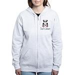 Panda January Due Date Women's Zip Hoodie