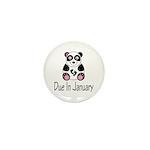 Panda January Due Date Mini Button