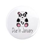 "Panda January Due Date 3.5"" Button"