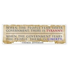 Thomas Jefferson Quoted Bumper Stickers (10)