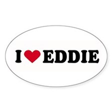 I LOVE EDDY ~ Oval Decal