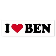 I LOVE BEN ~ Bumper Bumper Sticker