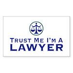 Trust Me I'm a Lawyer Rectangle Sticker