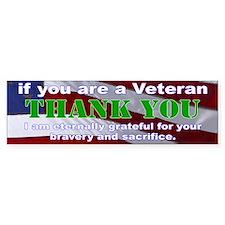 Thank you Veterans Bumper Sticker Stickers