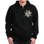 Leland Police Zip Hoodie (dark)