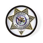 Leland Police Wall Clock