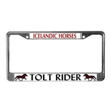 Unique Icelandic horse License Plate Frame