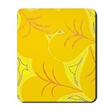 Yellow Lilly Heart Pads Mousepad