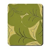 Dark Green Lilly Heart Pads Mousepad
