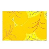 Yellow Lilly Heart Pads Postcards (Package of 8)