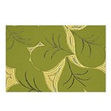 Dark Green Lilly Heart Pads Postcards (Package of