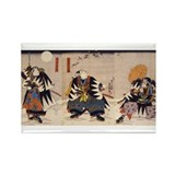 Samurai Warriors Rectangle Magnet