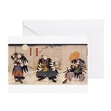 Samurai warrior Greeting Cards