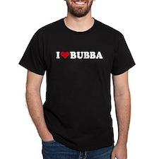 I Love BUBBA - Black T-Shirt