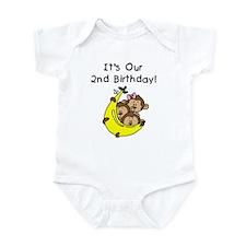 Triplets 2nd Birthday Infant Bodysuit
