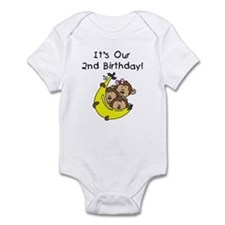 Triplets 2nd Birthday Onesie