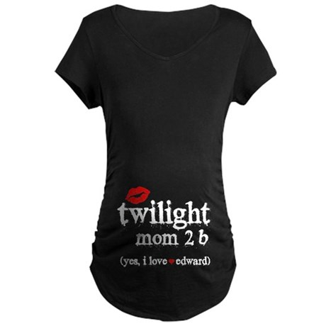Twilight Mom Maternity Dark T-Shirt