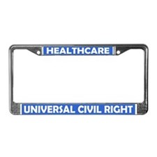 Unique Universal single payer healthcare License Plate Frame