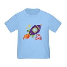 First Birthday Space Rocket T