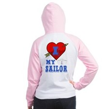 I LOVE MY SAILOR Women's Raglan Hoodie