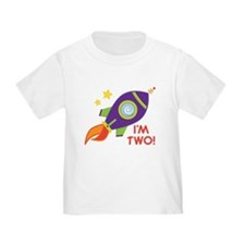2nd Birthday Space Rocket T