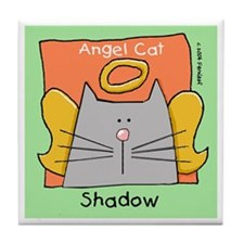 SHADOW Gray Cat Memorial Tile Coaster