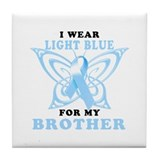 I Wear Light Blue for my Brother Tile Coaster