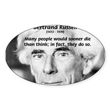 Clever Humour Bertrand Russell Oval Decal