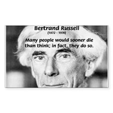 Clever Humour Bertrand Russell Sticker (Rectangula