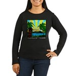 HAWAII - ART DECO Women's Long Sleeve Dark T-Shirt