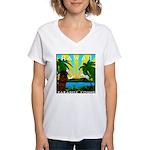 HAWAII - ART DECO Women's V-Neck T-Shirt