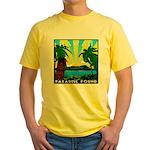 HAWAII - ART DECO Yellow T-Shirt