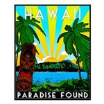HAWAII - ART DECO Small Poster
