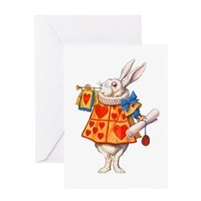 ALICE - THE WHITE RABBIT Greeting Card