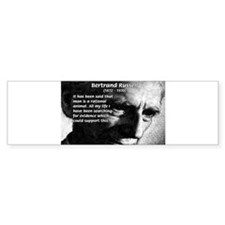 Rational Man Bertrand Russell Bumper Bumper Sticker