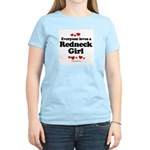 Everyone loves a Redneck Girl ~  Women's Pink T-Sh