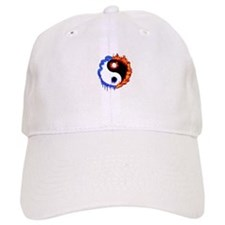 Ying Yang Ice and Fire Baseball Cap
