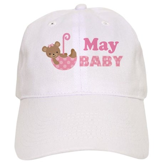 Cute May Pink Teddy Bear Announcement Cap