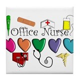 Office Nurse Tile Coaster