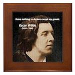 Genius at Play Oscar Wilde Framed Tile