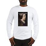 Genius at Play Oscar Wilde Long Sleeve T-Shirt